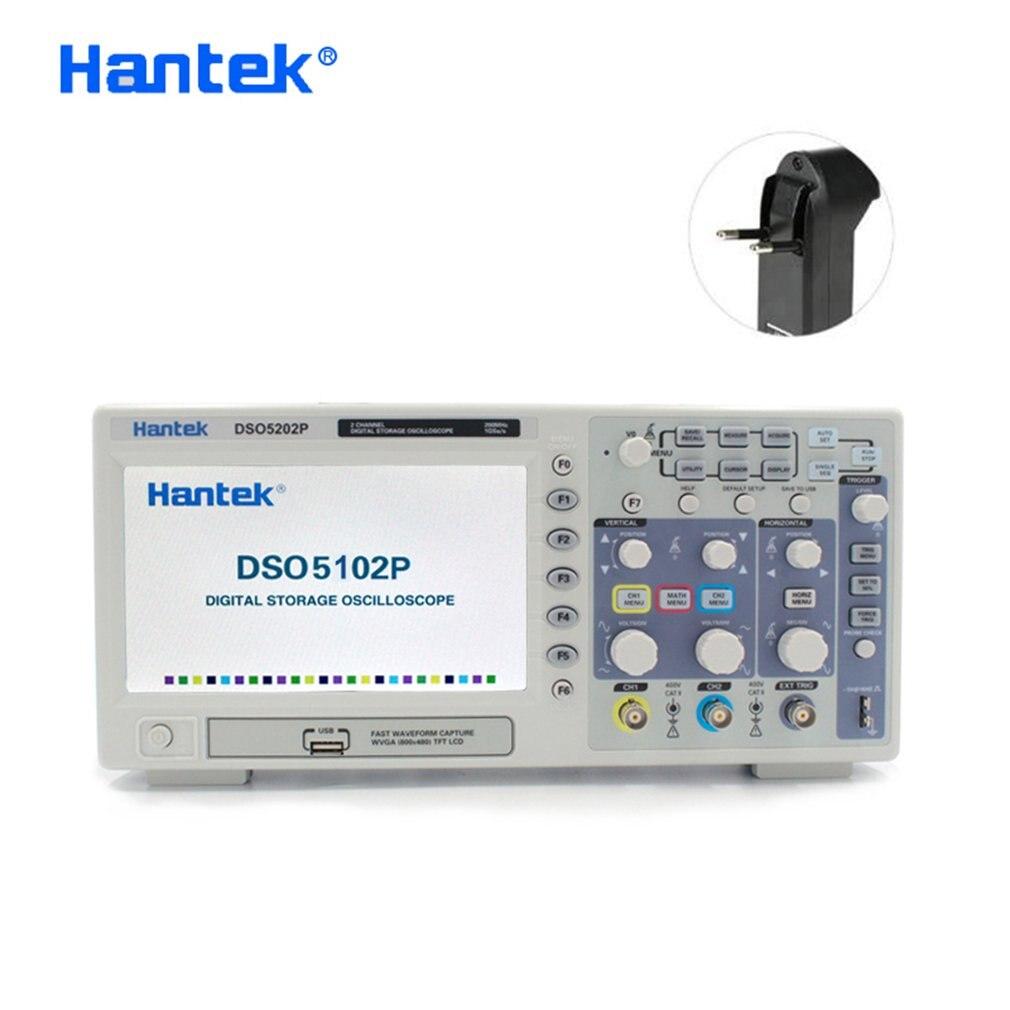 Aletler'ten Osiloskoplar'de Hantek dijital osiloskop taşınabilir 100 MHz/200 MHz 2 kanal 1GSa/s kayıt uzunluğu 40K USB Osciloscopio el osiloskopları title=