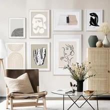 Na moda boho abstrato arco-íris minimalista boêmio arte da parede lona pintura cartaz e impressão fotos para sala de estar decoração casa