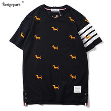 2021 summer mens new T shirt short sleeve for new collection Classical man Top tee with embroidery dog male polos Luxury brand