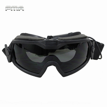 FMA LPG01BK12 2R Regulator Goggles With Fan Updated Version Tactical Airsoft Paintball Safety Eye Protection Glasses Eyewear