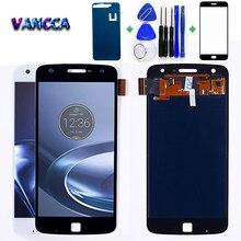 Motorola Moto Z oynamak için 5.5 inç LCD ekran XT1635 dokunmatik ekran Digitizer 1920*1080 montaj ücretsiz temperli cam