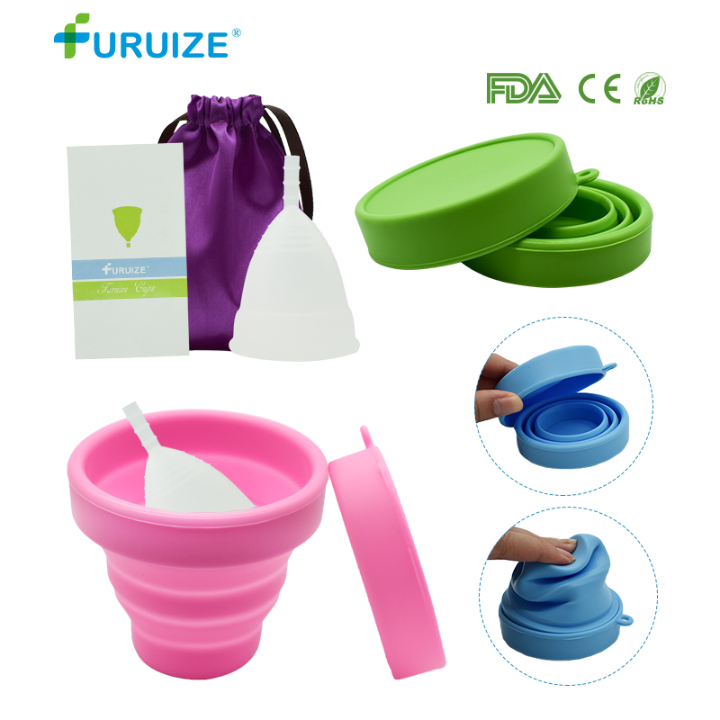 1pcs Menstrual Cup with Sterilizing Flexible Clean Lady copa menstrual Feminine Hygiene