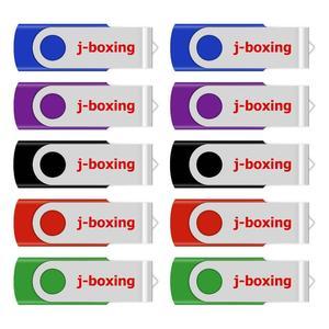 Image 3 - J boxing USB Flash Drive 10 Pz/pacco 1GB 2GB 4GB 8GB 16GB 32GB unità del Pollice del Bastone di Memoria Pendrive Girevole In Metallo Colorato per I Regali