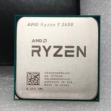 AMD Ryzen 5 2600 R5 2600 3.4 GHz ستة النواة اثني عشر النواة 65 واط معالج وحدة المعالجة المركزية YD2600BBM6IAF المقبس AM4