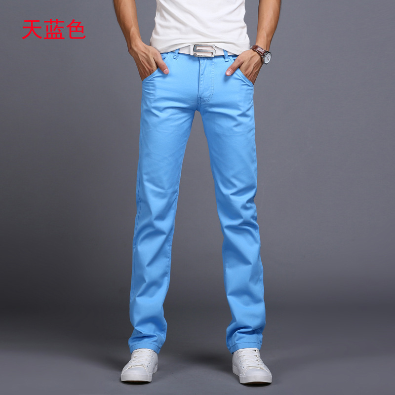 2019 Spring autumn New Casual Pants Men Cotton Slim Fit Chinos Fashion Trousers Male Brand Clothing 9 colors Plus Size 28-38 4