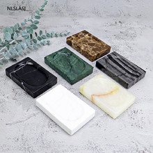 1pc European Luxury Marble Soap Dish Portable Travel Bathroom Accessories Storage Tools Soap Plate Tray Storage Display Stand