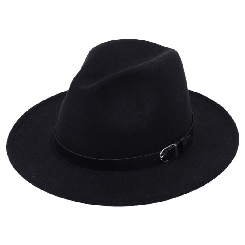 Classic British Fedora Hat Men Women Imitation Woolen Winter Felt Hats Fashion Jazz Hat Chapeau Wholesale 20