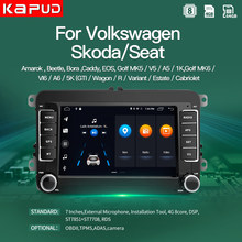 Kapud Car Radio Gps Autoradio Android Classic 7''Multimidia Player Stereo For VW/Volkswagen/Golf/Polo/Tiguan/Passat/b7/Octavia(China)