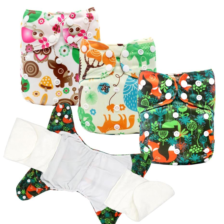 AIO подгузники, тканевые подгузники, все в одном, регулируемые подгузники AI2, водонепроницаемые, моющиеся, один размер, дышащие, бамбуковые, хл...