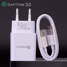 18W QC 3.0 USB chargeur Charge rapide 3.0 Charge rapide téléphone portable chargeur câble pour Samsung Xiaomi huawei LG SONY adaptateur mural