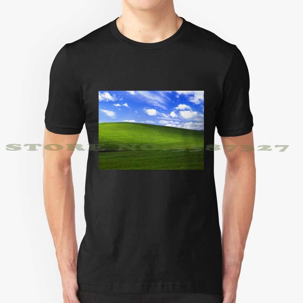 ブリス窓xp壁紙グラフィックカスタムおかしいホット販売tシャツ窓xp壁紙windows壁紙windows 7 Tシャツ Aliexpress