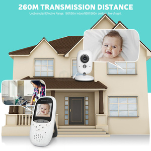 Image 2 - Wireless 2.0 inch Video Color Baby Monitor Security Camera Baby Nanny Intercom Night Vision Temperature Monitoring VB602