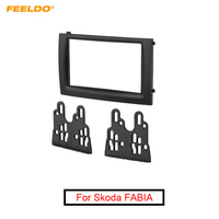 FEELDO Car DVD/CD Radio Stereo 2DIN Fascia Panel Refitting Frame Facia Trim Install Mount Kit For Skoda FABIA #AM2093