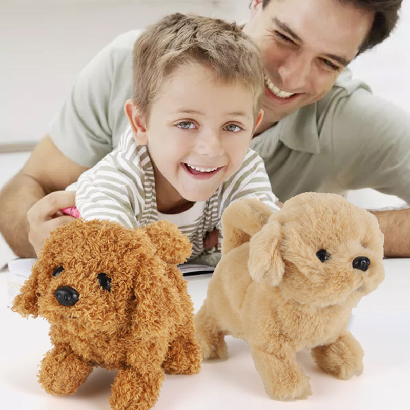 18CM Interactive Plush Puppy Electronic Toys Cute Robot Dog Funny Plush Toys For Children Birthday Christmas Birthday Gift
