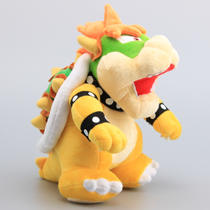 Super Mario Bros Bowser King Koopa Yellow Plush Toy Soft Dolls 25cm Kids Gift Lovely Koopa Dolls(China)