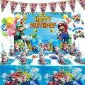 С изображением персонажа мультфильма «Супер Марио» тема ребенок день рождения вечерние принадлежности рождественские украшения с милой п...