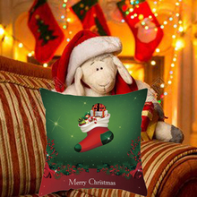 цена на Christmas Throw Pillow Covers Santa Gift Pattern Cotton Linen Throw Pillow Cushion Cover Car Home Sofa Decorative Pillowcase