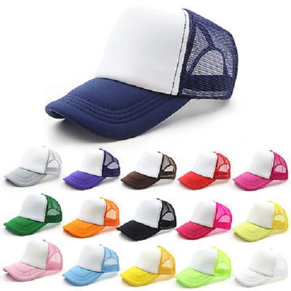 Baseball hat visor hat Splice Mesh Cap Adjustable Trucker Cap Unisex Hat MZ001