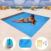 Dropshopping 2Mx2M Beach Mat Waterproof Beach Blanket Outdoor Portable Picnic Mat Camping Ground Mat Camping Bed Camping Mat