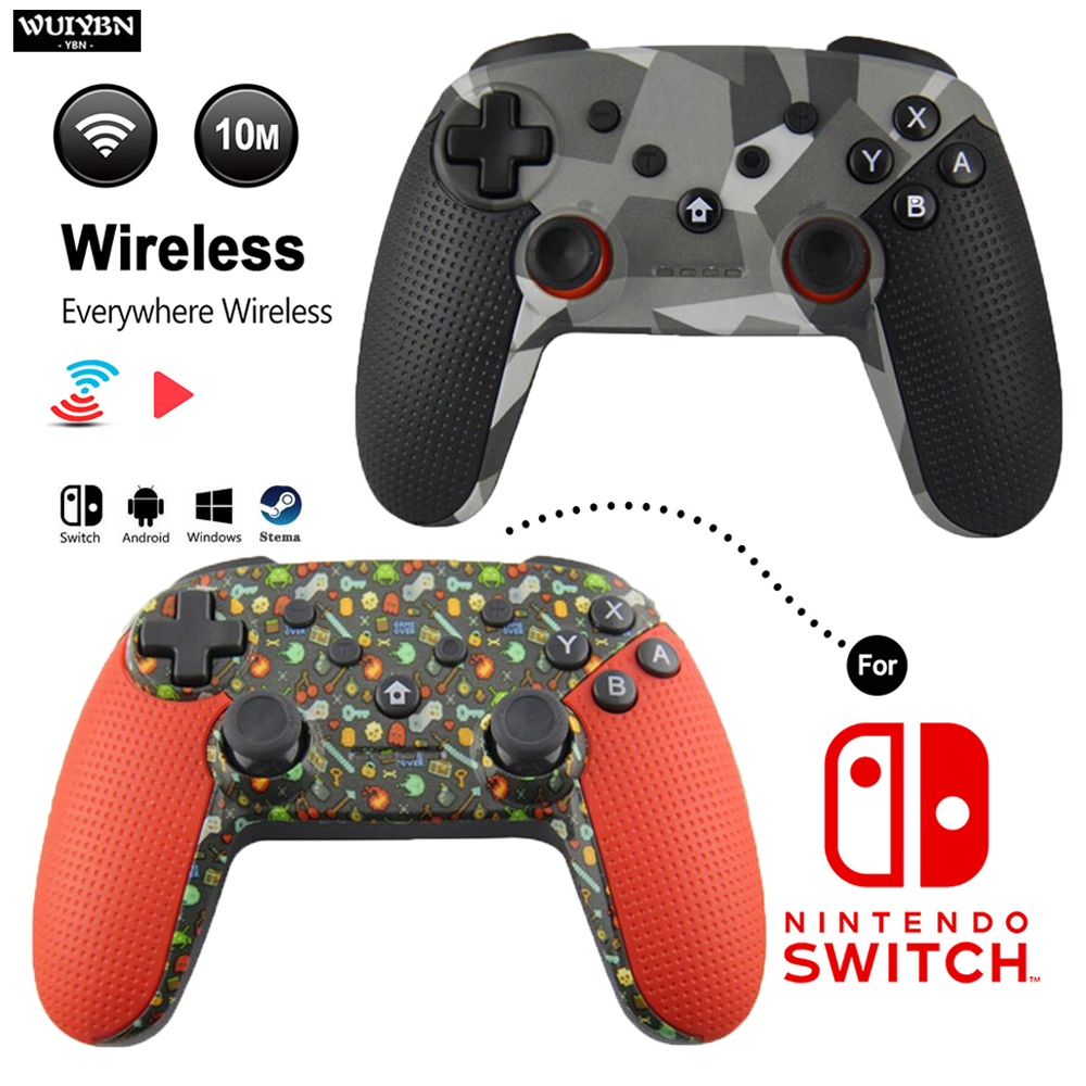 WUIYBN NS Switch Pro Controller Wireless Bluetooth Gamepad Joystick For Nintend Switch lite PC Android Steam