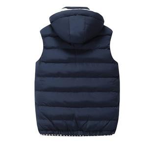 Image 2 - Chaleco polar con capucha para hombre, chaleco grueso y cálido de algodón, chalecos suaves informales para hombre, chaqueta sin mangas a prueba de viento, Parkas, Invierno 2020