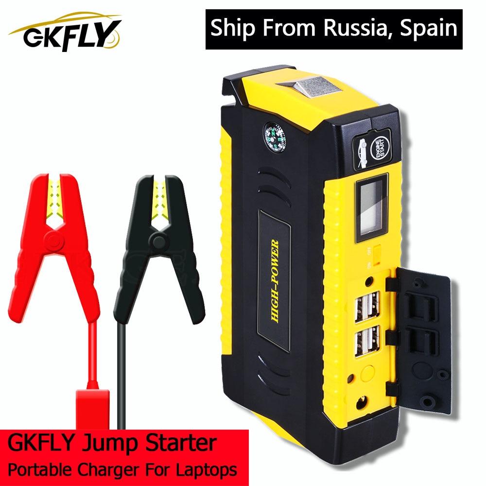 GKFLY Car Jump Starter Power Bank 600A Portable Car Battery Booster Charger 12V Starting Device Petrol Diesel Car Starter Buster