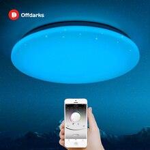 โมเดิร์นโคมไฟเพดาน LED 25 W รีโมทคอนโทรล RGB สีหรี่แสงเปลี่ยนหลอดไฟสำหรับห้องนอน Livingroom AC165 265V