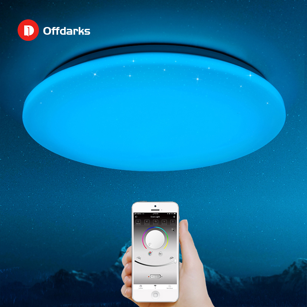 Us 212 8 Modern Led Ceiling Light 25w Smart Remote Control Rgb Dimmable Color Changing Lamp For Livingroom Bedroom Ac165 265v In Ceiling Lights From