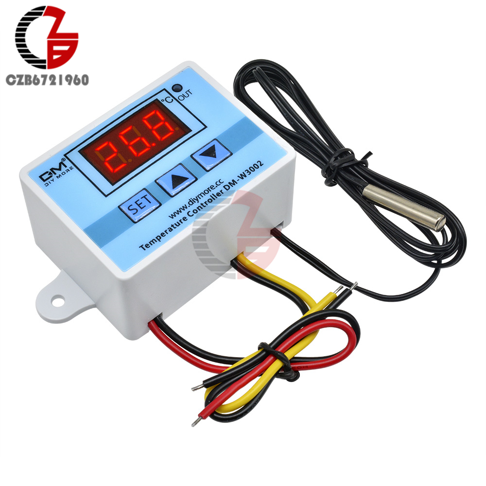 12V 24V 110V 220V LED Digital Temperature Controller Thermostat Thermoregulator Sensor Meter Incubator Fridge Heating Cooling