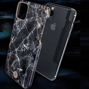Image 3 - Original Kingxbar Zurück Fall Für iPhone 11 Pro Max Mode Jade Stein Marmor Harte Schutzhülle Fall Mit Gebaut in Metall Platte