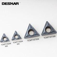 Lathe-Cutter Turning-Tools TCMT16T304 DESKAR Inserts Cutting-Carbide CNC 10PCS LF6008