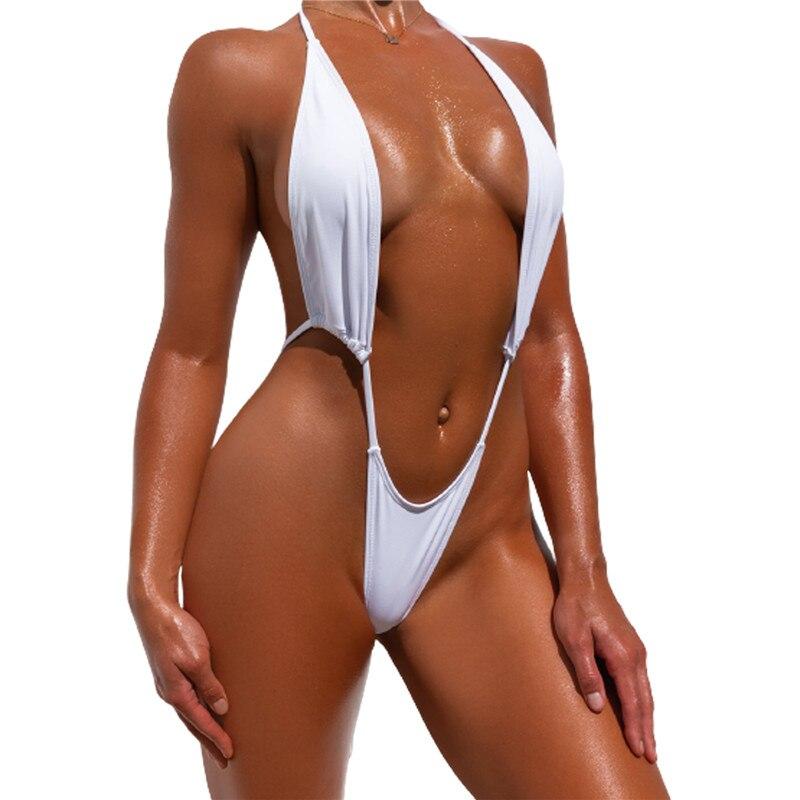 Сексуальные стринги, бикини 2021, женские экстремальные боди, Цельный купальник, женский микро купальник с V-образным вырезом, женские Монокин...