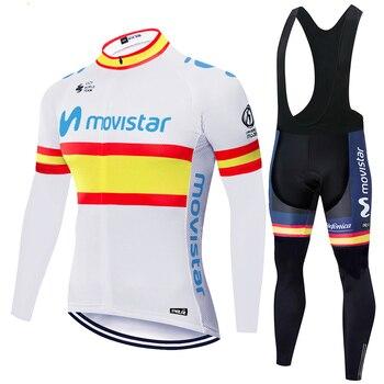 Invierno 2020 movistar Ciclismo Jersey bicicleta montaña desgaste pantalones babero transpirable Ropa...