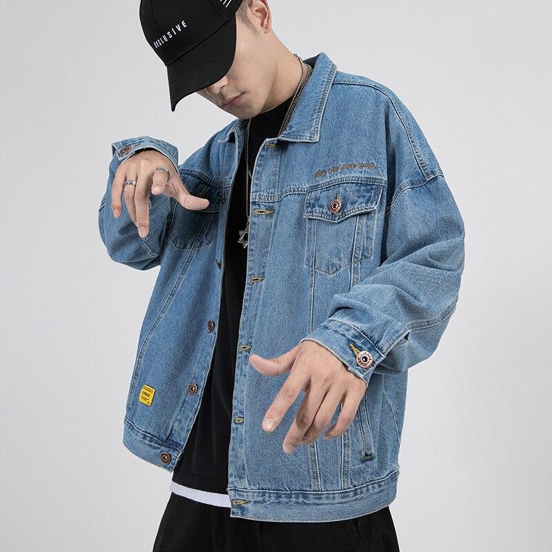 Yasword haute qualité fait Denim hommes vestes bleu manteau bleu foncé décontracté homme veste Cowboy vêtements Bomber vestes