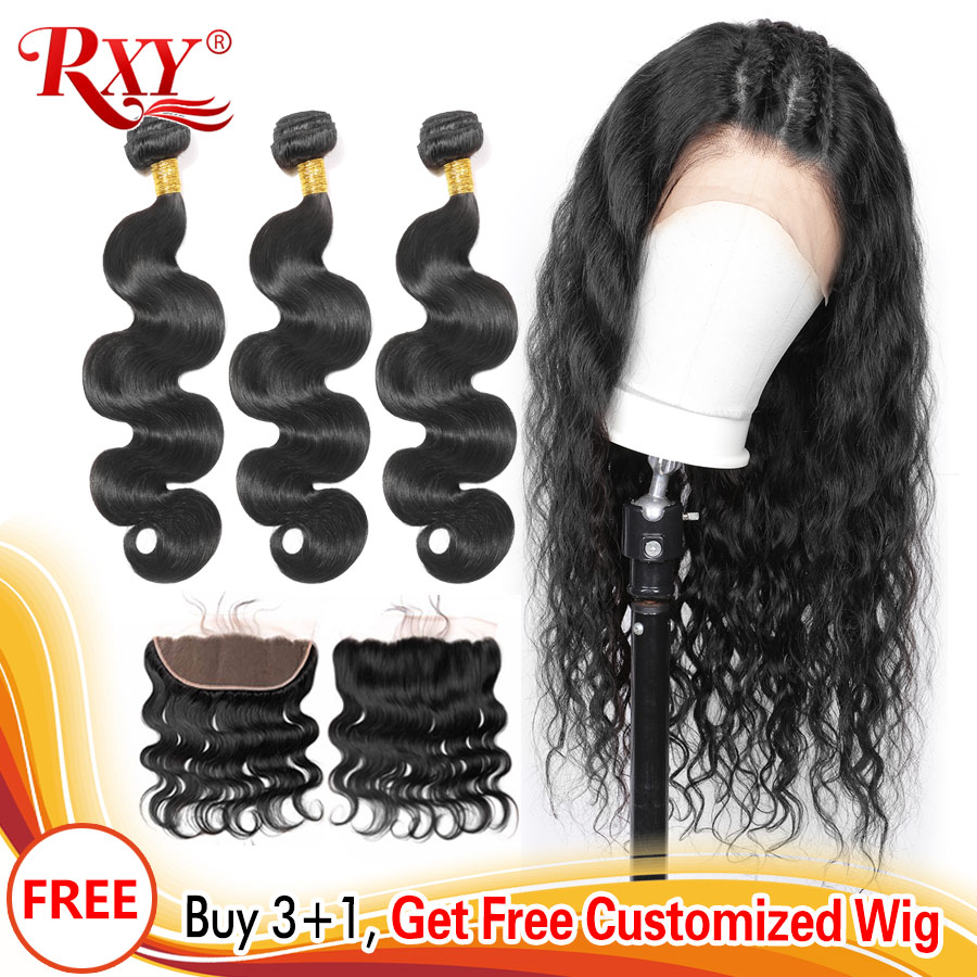 300 Density Free Customized 13x4 Lace Frontal Wigs By Remy Brazilian Body Wave Human Hair Bundles With Frontal Closure Body Wigs