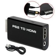 Dla Sony 2 PS2 na HDMI-kompatybilny Adapter konwertera Adapter wyjścia Audio wideo kabel USB do konwertera PS2 na HDMI