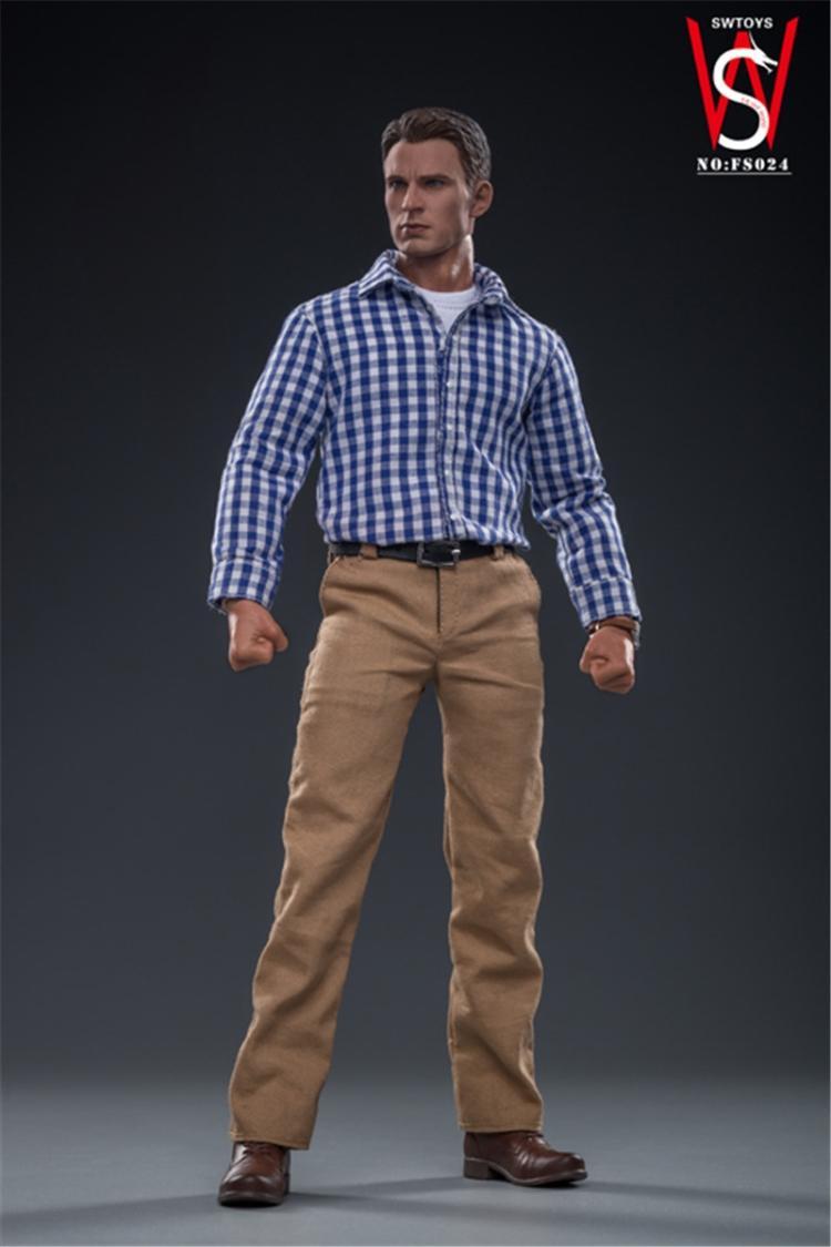 Fs024 1/6 escala figura masculina acessório avengers capitão américa steven rogers modo figura de ação conjunto completo brinquedo natal para os fãs - 4