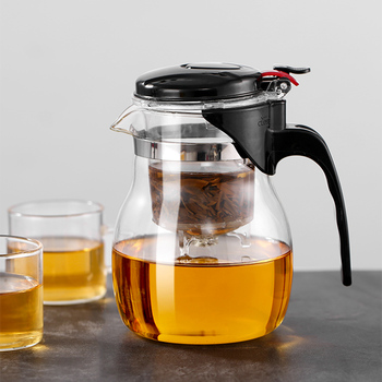 Glass Teapot High quality Heat Resistant Glass Chinese kung fu Tea Set Kettle Coffee Jug Glass Maker Convenient For Office Home 1