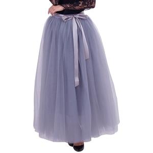 Image 4 - 7 ชั้น 100 ซม.Tulle กระโปรงสตรีกระโปรงแฟชั่นงานแต่งงานเจ้าสาว Bridesmaid กระโปรง Faldas Jupe saias