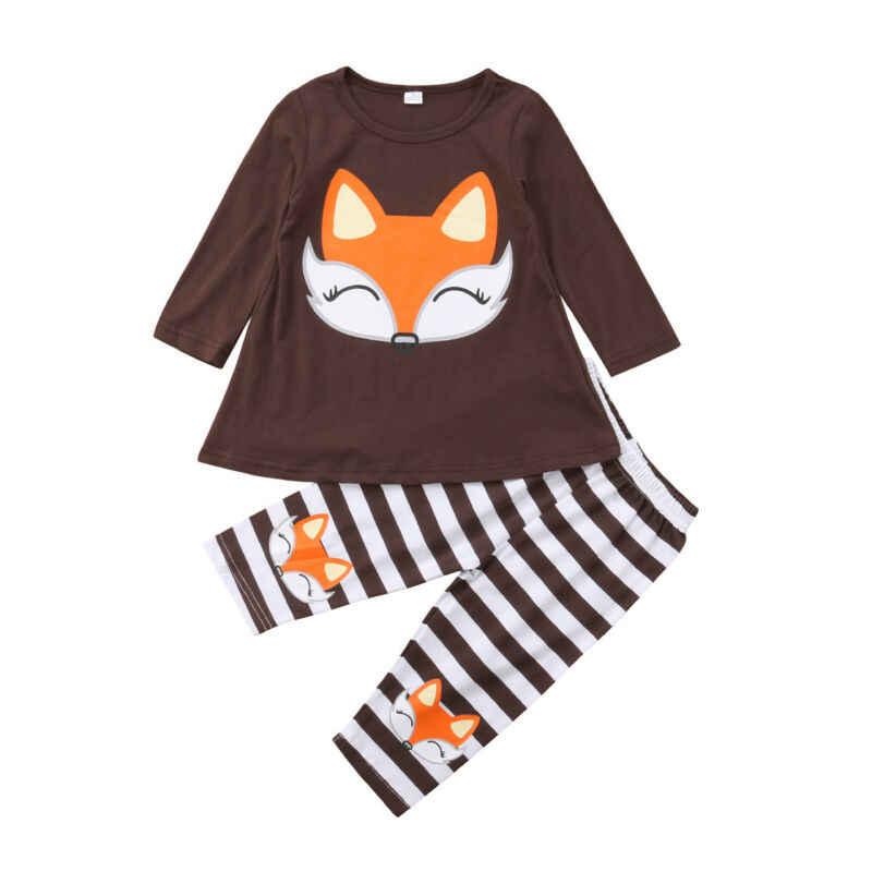 Emmababy Fox เด็กทารกเสื้อผ้าชุดสำหรับกล่องเสื้อยืด Top กางเกงชุดทารกแรกเกิดเด็กเสื้อผ้าเด็กเสื้อผ้าเด็ก