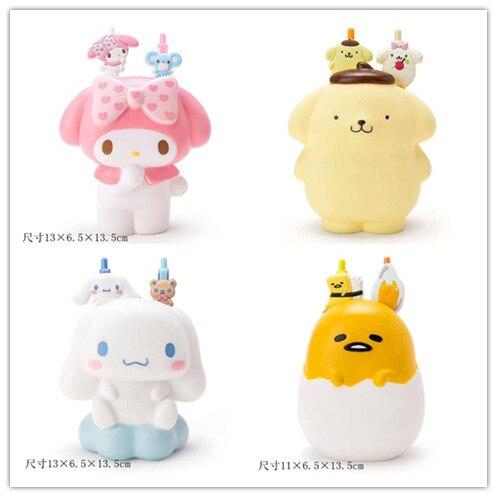 IVYYE 1PCS Cinnamoroll Melody Gudetama Anime Bag Parts Cartoon Accessories Pen Case  Key Storage Pencil Box Gift