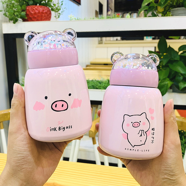 Kawaii Cute Piglet Thermal Flask (300ml) – Limited Edition