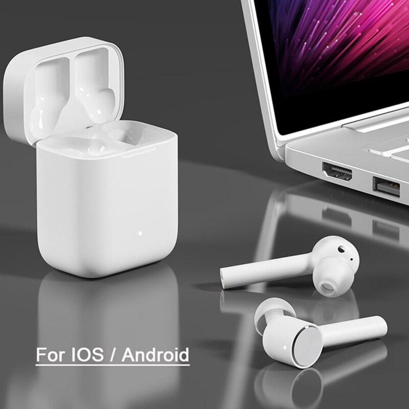Original Xiao mi Airdots Pro mi Air Bluetooth écouteur Tws et commutateur HD Pause automatique contrôle du robinet pour IOS téléphone Android livraison directe - 5