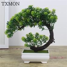Nuevas plantas artificiales bonsái pequeño árbol maceta plantas flores falsas adornos en maceta para la decoración del hogar Decoración del jardín del Hotel