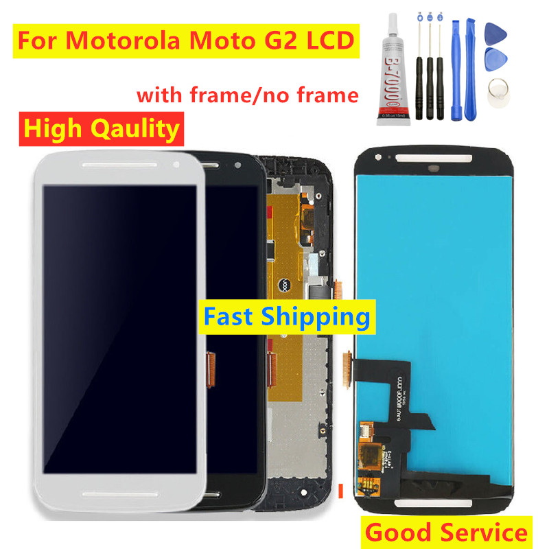 For <font><b>Motorola</b></font> MOTO G2 XT1063 XT1064 <font><b>XT1068</b></font> XT1069 LCD <font><b>Display</b></font> Touch Screen With Frame Digitizer Assembly Repair parts For Moto G2 image