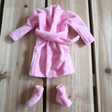 A Christmas Tradition Toys Accessories Santa Couture Clothing for Elf Doll pink robe + shoes