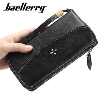 2020 DESIGN Women Wallets Large Wallet Fashion Top Quality PU Leather Card Holder Female Purse Zipper Big Brand Wallet For Women stylish zipper and magnetic closure design wallet for women