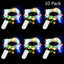 Led String Lights 20 LED String Light Button Battery Lights Fairy Micro LED Transparent Copper Wire for Party Christmas Wedding недорого