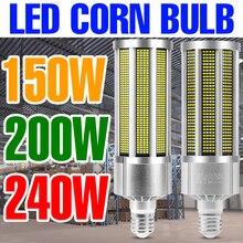 E27 LED Light Bulb 150W Corn Lamp 200W Ceiling Lights LED Chandelier 240W Corn Bulbs 220V Workshop lampara Warehouse Lighting