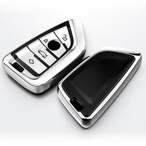 Image 3 - Fit für BMW X1 X3 X5 X6 1/3/5/7 Serie M5 Auto Schlüssel Abdeckung Schlüssel Fall Hohe Qualität Chrom TPU Auto schlüssel Shell Protector Schlüssel Ketten